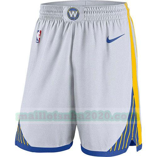 shorts 2018-19 nba golden state warriors blanc
