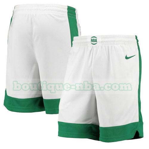 shorts Homme 2020-21 City Edition nba Boston Celtics Blanc
