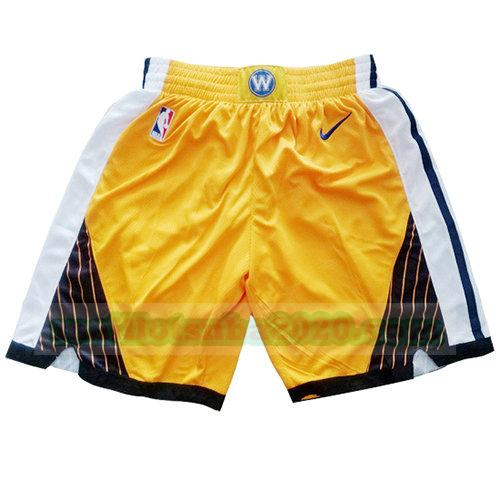 shorts earned 2018-19 nba golden state warriors jaune