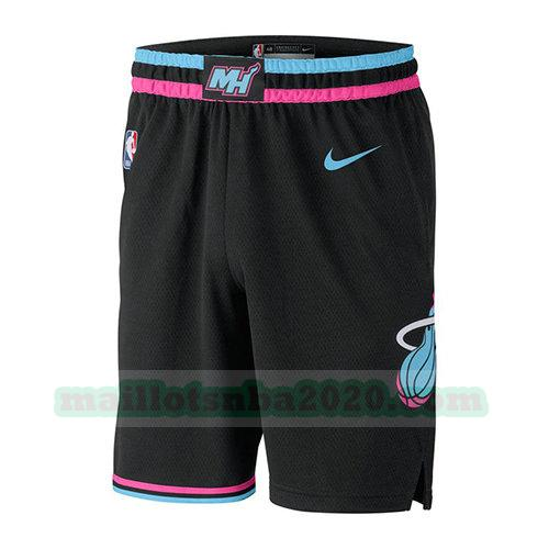 shorts ville 2018-19 nba miami heat noir