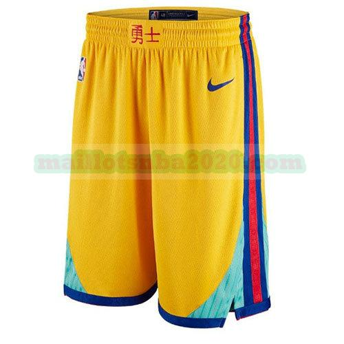 shorts ville nba golden state warriors jaune